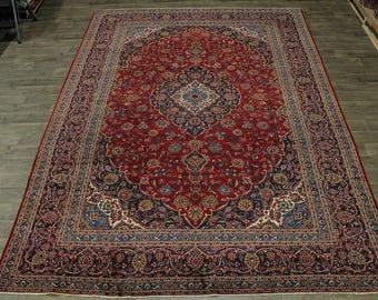 Gorgeous Traditional Semi Antique Kashan Persian Rug Oriental Area Carpet 10X14