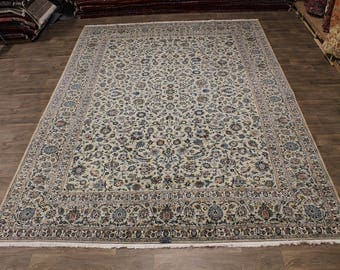Fantastic Allover Design Signed Kashan Persian Rug Oriental Area Carpet 10X14