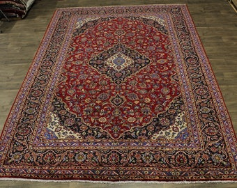 Exceptional S Antique Hand Knotted Kashan Persian Rug Oriental Area Carpet 10X13