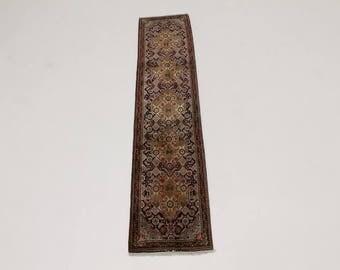 Astonishing Geometric Design Runner Bidjar Persian Rug Oriental Area Carpet 2X9