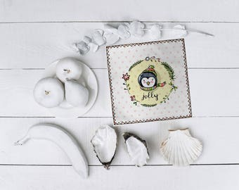 Christmas placemats, Christmas placemat set 4 pcs, Christmas Table decor, Table placemat, Christmas in kids room, Gift for Christmas