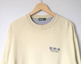 On Sale! Vintage ELLESSE Perugia Italia Sweatshirt Sweater Shirt Ellesse Big Logo streetwear Italy Brand Large Size