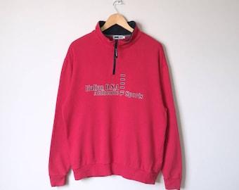 On Sale! Fila Half Zipper Sweatshirt Fila Big Logo Spell Out Fila Intimo Fila Biella Italia Sportwear Large Size