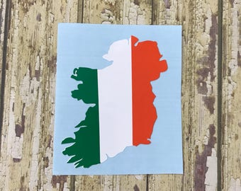 Ireland Silhouette Flag Decal