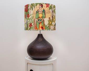 Large Frida Kahlo Lamp 'Fridas Garden'