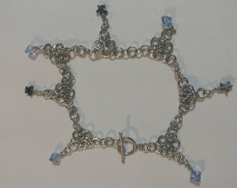 Silver aluminum Chainmaille Bracelet
