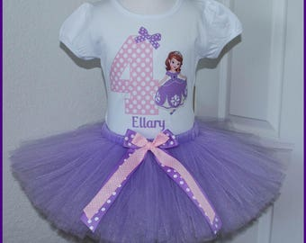 Super Cute Sofia the First princess Birthday Tutu outfit