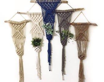 Macrame, macramé, macrame planter, macrame wall hanging, boho decor, Boho, boho style, wall art, plant hanger