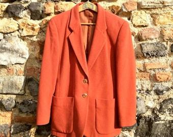 The beautiful brick wool blazer