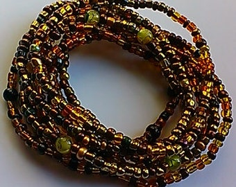 Stack of 9 Bracelets/Anklets,women,beaded,gemstones,stretch,afrocentric,gift,tribal,unique,trendy,inexpensive,african