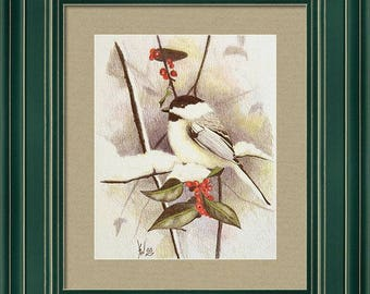 Black Capped Chickadee Framed Print by Stan White
