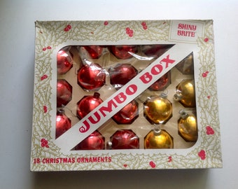Vintage Shiny Brite Ornaments In Jumbo Origional Box