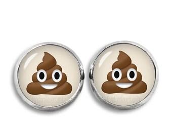 Poop Emoji Stud Earrings Cute Poop 12mm Earrings Novelty Earrings Geeky Earrings