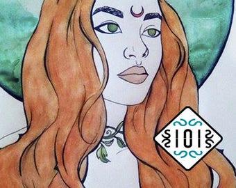 Miss Nature /  Poison Ivy / ilustration / gothic