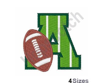 Football Field Font Letter A - Machine Embroidery Design