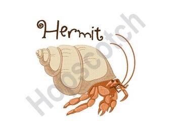 Hermit Crab - Machine Embroidery Design