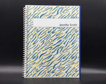 SQUIGGLES Flex-Hardcover Notebook / Journal 200 pages  Customize-able