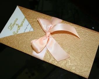 Golden scales Chic wedding invitation