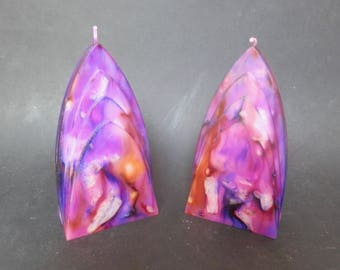 Handmade Candles, Decorative Candles, Purple Candles