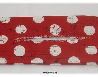Headband magic with white dots on red background for round bun bun reverse
