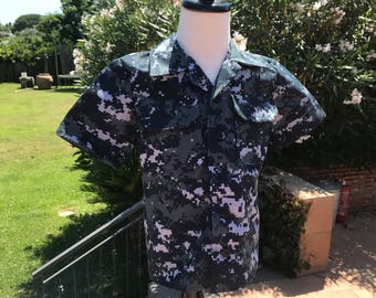 Boys Size 6 US Navy NWU Digital Camo Shirt