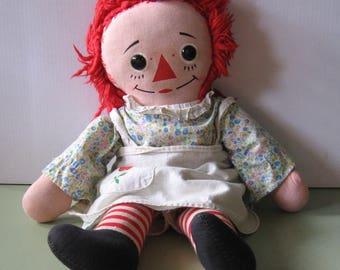 Vintage Knickerbocker RAGGEDY ANN Rag Doll