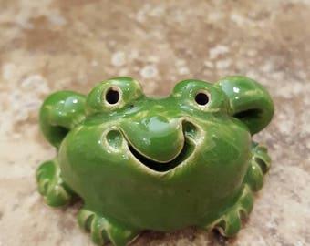 Little Guys Ceramic Frog