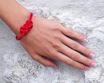 Sailor (red) leather bracelet