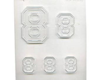 "Collegiate Number ""8"" Chocolate Candy Mold"