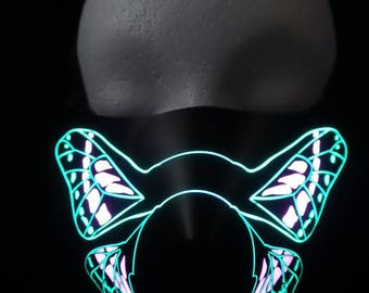 Butterfly Sound Activated LED Rave Mask for DJ, Edc, Ultra, Music Festival, Concerts, Club, EDM, Costume, Cosplay, Dance, Music