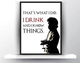 Tyrion Game of Thrones Gift for Him-Funny Thrones Men-Tyrion Thrones Art Gift-Throne Birthday Gift-Thrones Drinking-Thrones for Her