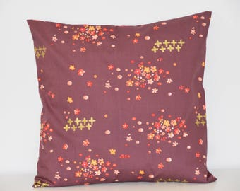 Cushion - 40 x 40 cm - Japanese fabric - colorful - flowers Japanese Style