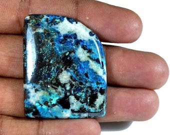 50%SALE Better Designer !! Natural Azurite Cabochon irregular 42x33x6 mm 93 Ct. Loose Gemstone Wholesale Cabochon Gemstone For Jewelry