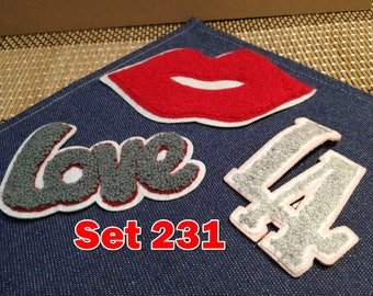 Vintage Love LA Embroidery Patches, Towel Patches, Sew on Patches, Iron on Patches Wholesale Clearance