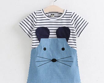 Summer Striped Mouse Dress