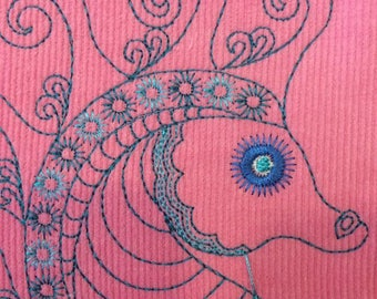 Sotis Embroideryfile Seahorse: in 3 variants sizes 16x26 frame size