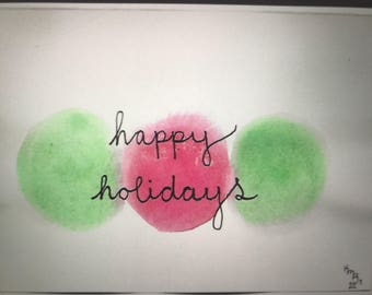 Holiday watercolor cards