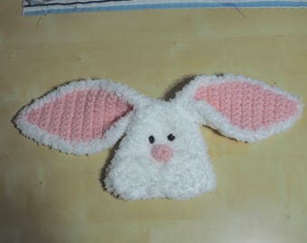 Crochet newborn bunny hat