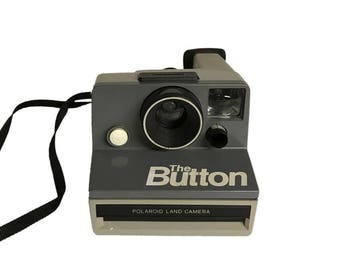 Vintage Polaroid The Button Grey SX-70 Instant Film Camera Works