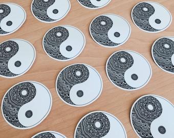 Mandala Ying Yang sticker