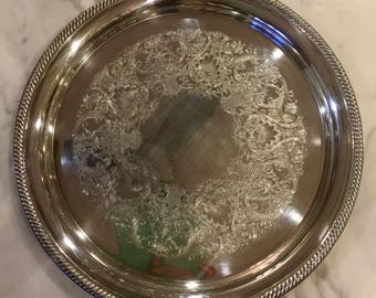 International Silver Co #671 Silverplated Platter