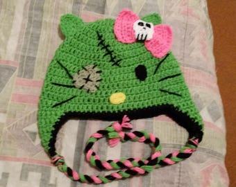 Zombie hello Kitty hat