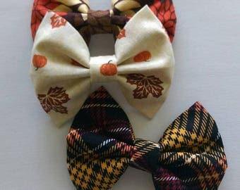 Fall Fabric Bow Set
