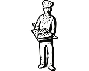 Baker #1 Baking Chef Hat Bakery Pastry Bread Kitchen Tool Cooking Professional Cook Homemade Food .SVG .EPS .PNG Vector Cut Cutting File