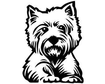 highland terrier svg etsy westie clipart free westie christmas clipart