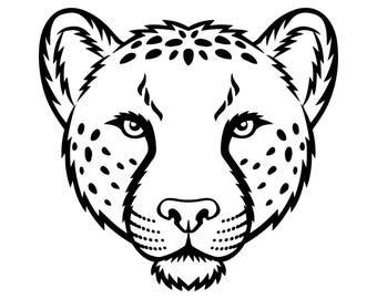 Cheetah #7 Leopard Jaguar Wild Cat Spots Wildlife Wild Animal Zoo Mascot Logo .SVG .EPS .PNG Digital Clipart Vector Cricut Cut Cutting File