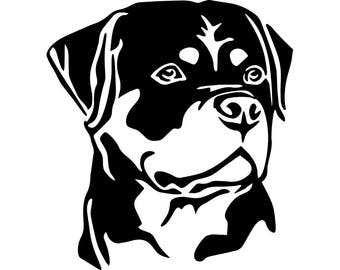 Rottweiler #6 Dog Breed Animal Pet Hound .SVG .EPS .PNG Instant Digital Clipart Vector Cricut Cut Cutting Download Printable Scrapbook File