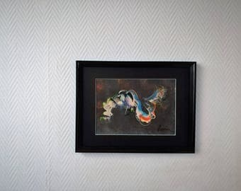 HandPaint Wall Art Picture Acrylic Painting On Paper Original