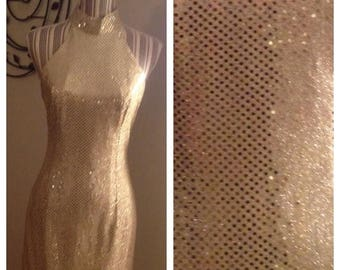 Anniversary Sale Gorgeous Ladies Vintage 70's Gold Shimmer Dress