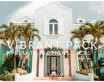 Vibrant Pack for Lightroom & Photoshop Actions, Presets, ACRs for Bright Portrait and Modern Wedding Edits in Adobe Lightroom Photoshop